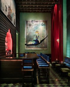 Jade Bar at the Gramercy Park Hotel.  I would like a dirty Vodka Martini with extra olives.  Thank you.
