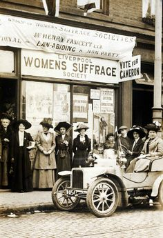 1910. Eleanor Rathbone at Liverpool Women's Suffrage Society.