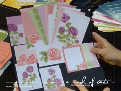 First Look at Petal Garden Memories & More Cards New Scrapbooking and Memory Keeping System by Stampin' Up