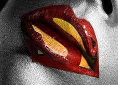 Superman lips- Makeup