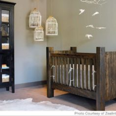 I want a barnwood crib! Maybe slightly different in style but the idea is awesome :)