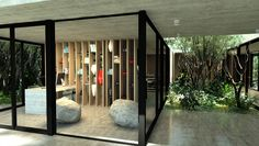 Enclosed Desk Area of Gres House by Luciano Kruk