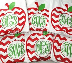 Monogram Apple Shirt Teacher Shirt Adult Size Teacher Gift Cute Apple Teacher Gift Monogram Shirt - Teacher Shirts - Ideas of Teacher Shirts - Monogram Apple Shirt Teacher Shirt Adult by SouthernSquirrelCo Monogram T Shirts, Vinyl Monogram, Monogram Gifts, Tee Shirts, Tees, New Teacher Gifts, Teaching Shirts, Teacher Outfits, Teacher Fashion