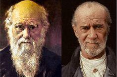charles darwin and george carlin