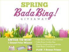 Enter to WIN - Sweet smells of spring will fill the air with our Spring Bada Bing! Giveaway featuring Cake Boss bakeware, cookbook and more! Click on the image to enter.