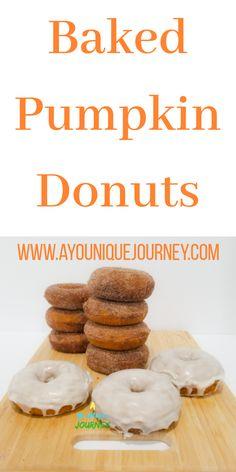 Baked Pumpkin, Pumpkin Puree, Vanilla Glaze, Melted Butter, Easy Desserts, Brown Sugar, Donuts, Cinnamon, Vegetarian