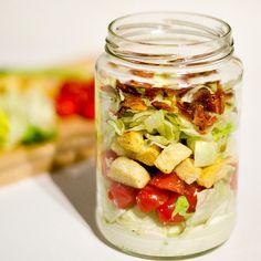 BLT salad in a jar