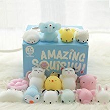 WATINC 4Pcs Easter Jumbo Squishies Toy Easter Basket Stuffers Kawaii Squeezable Sensory Soft Slow Rising Stress Relief Toy Colorful Cream Scented Bunny Chick Squishies for Kids Easter Party Favor