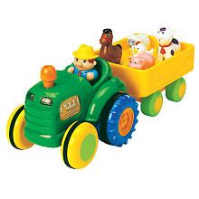 Fun Time Tractor/ animal sounds, moving tractor, Old McDonald song lights and horn. One yr olds LOVE it!