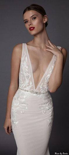 Muse by Berta Wedding Dress AMADIS 2   Deer Pearl Flowers