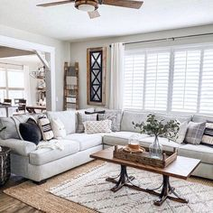 Outstanding small living room designs are readily available on our website. Take a look and you will not be sorry you did. 3 Piece Sectional Sofa, Living Room Sectional, Cozy Living Rooms, Living Room Grey, Home Living Room, Living Spaces, Gray Sectional, Family Room With Sectional, Small Living Room Designs