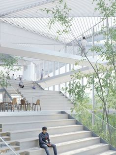 Polytechnique school new Learning center . Paris-Saclay     Sou Fujimoto Architects  . Manal Rachdi OXO Architectes  . Nicolas Laisné Associ...