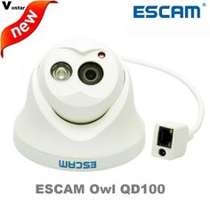 31.45$  Watch here - http://aliwal.shopchina.info/1/go.php?t=32329785821 - Escam OWL QD100 IP Camera Night Vision Onvif 3.6mm lens 720P H.264 1/4 CMOS P2P Mini dome Camera Security CCTV Outdoor Camera  #aliexpresschina