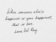 Lana Del Rey on love
