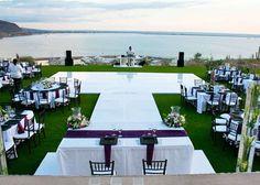 CostaBaja Resort & Spa  destination wedding, cabo, decorations, chiavari chairs, linens, table arrangements, runners, music, dj, venues, waterfront, resort, black, purple, white, spring, summer, destination, beach, outdoor, romantic