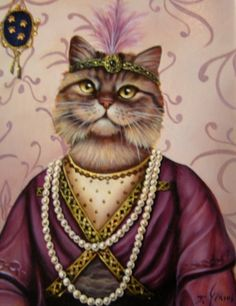 Cat by Joyce Grams. Saved by monkeetree.com
