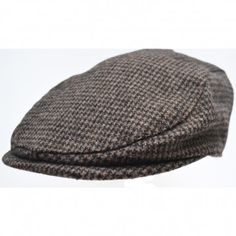221f56a21e9ab LLV- Tyrion Brown Houndstooth Pure Wool (Children) - Scally caps Flat caps
