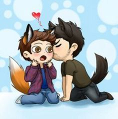 Sourwolf and Foxboy -Sterek Fan Art Teen Wolf, Arte Teen Wolf, Teen Wolf Ships, Teen Wolf Boys, Teen Wolf Dylan, Sterek Fanart, Willy Wonka, Aldnoah Zero, Fox Dog