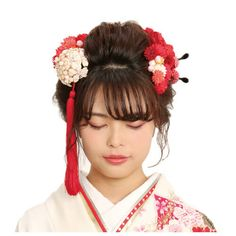 成人式 振袖 髪型 ロング Japanese Fashion, Asian Fashion, Coming Of Age Day, Nihon, Yukata, Hair And Nails, Fashion Photography, Hair Beauty, Hair Accessories