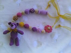 Sling necklace for newborn gift to mother sling por OmGanchillo