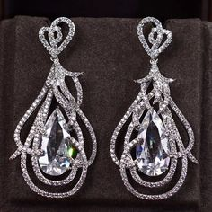 Zircon Earring JHZ-257 USD57.41, Click photo to know how to buy / Contact me for discount, follow board for more inspiration