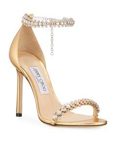 Jimmy Choo Shiloh Metallic Crystal Sandals Source by jordiejorddance choo shoes Stilettos, Stiletto Heels, High Heels, Sapatos Manolo Blahnik, Jimmy Choo Shoes, Designer Heels, Fashion Heels, Wedding Shoes, Pretty Shoes