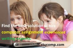 There is computer homework help provided over website. You just need to register yourself and order your home work or assignment and you will get it done within the time frame that you want them in.  http://www.stucomp.com/blog/find-the-best-solution-to-hire-computer-assignment-experienced-writing-experts