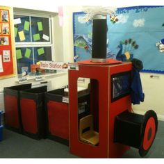 Make train so that chairs fit in the boxes Dramatic Play Area, Dramatic Play Centers, Preschool Centers, Preschool Lessons, Train Activities, Preschool Activities, Kids Sunday School Lessons, Early Years Maths, Daycare Themes