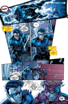 NIghtiwng in Titans Rebirth #1 - Brett Booth