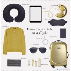 This is our recommend travel essentials for you to enjoy a super cozy flght.  What's your must-carring items on a flight? #CSAir #flyChina #flyChinaSouthern #travelling #flightessentials #tbt