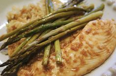 Honey Soy Tilapia - SO easy & delicious!  Even my 2 toddlers cleaned their plates ;)