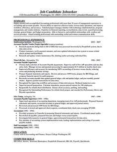 Accounts Payable Resume Samples Amusing 23 Best Accounts Payable Images On Pinterest  Accountant Humor .