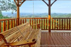 A simple life in the Smoky Mountains. From the Pigeon Forge cabin, Havens at Hedgewood Smoky Mountain Cabin Rentals, Smoky Mountains Cabins, Great Smoky Mountains, Pigeon Forge, Great View, Garden Bridge, Touring, National Parks, Deck