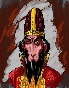 Bits and Scribbles : Photo Mularik Ironeye, half-crazed Arkati Sorcerer and companion to Prince Argrath. Tags: glorantha sketch mularik argrath