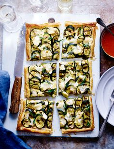 Courgette, mustard and goats' cheese galette - Easy to make and ideal for lazy late summer nights