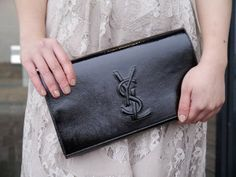 ysl belle du jour patent-leather clutch