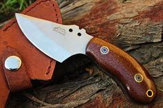 """DKC-89-CS VORTEX Fixed Hunting Skinner Knife Carbon Steel Mahogany Micarta 6"""" Long, 3"""" Blade 6.7oz DKC Knives. DKC-89-CS VORTEX Fixed Damascus Hunting Skinner Knife Carbon Steel Brown Burlwood Style Micarta 6"""" Long, 3"""" Blade 6.7oz DKC Knives TM. DKC-42 OTTER Lovers look at DKC 89 VORTEX and DKC 400 SIERRA TRACKER Same Quality and Mahogany Micarta. Knives Come With A Sheath Custom High Quality Double Layers of Hard Genuine Leather. The leather is water proof and has double layers inside…"""
