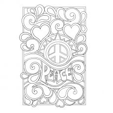 Peace Sign Coloring Pages - GetColoringPages.com | 230x230