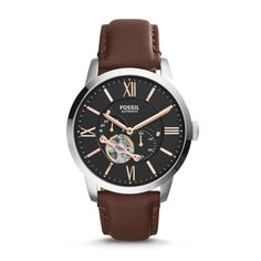 ME3061 - Townsman Automatic Leather Watch - Brown