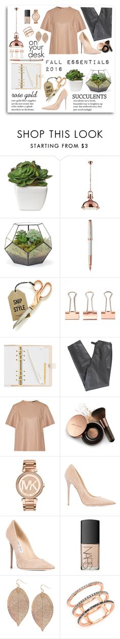 """""""Fall Trends"""" by wanderingfairy ❤ liked on Polyvore featuring Parker, Lafayette 148 New York, Belstaff, Nude by Nature, Michael Kors, Jimmy Choo, NARS Cosmetics, Humble Chic, EF Collection and succulents"""