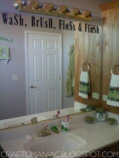 Cute idea for kids bathroom