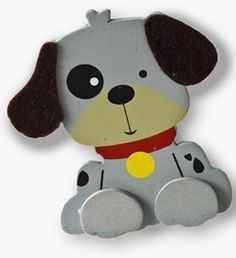 """Plaid ® Wood Surfaces - Painted Shapes - Dog    Size: Approx. 3"""" x 3-3/4"""""""