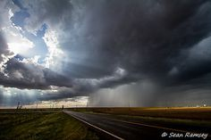 Sunray Photography, Oklahoma Rain, Rain Over Highway, Sunshine Print, Travel Art, Sky Picture, Blessed, Photography Clouds, Rain Storm