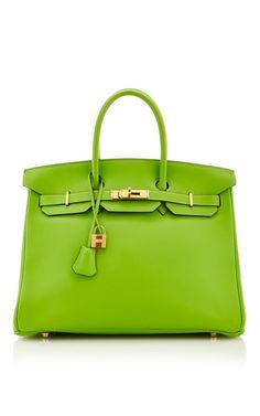 Hermes 35Cm Vert Cru Gulliver Leather Birkin by Heritage Auctions Special Collection for Preorder on Moda Operandi