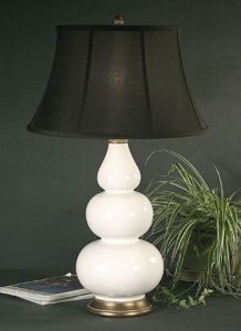 Love these gourd lamps