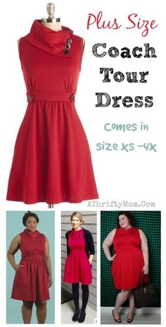 Plus Size Fashion Deals, LOVE THIS red dress from modcloth, Comes in size xs up to 4X,  Red Dress Plus Size