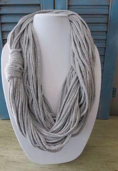 Infinity Jersey Stretch Cotton Necklace Scarf by oZdOinGItagaiN, $25.00
