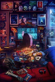 Horror Movies - It - Carlotta Wallpapers Geek, Movie Wallpapers, Aesthetic Wallpapers, Horror Icons, Horror Movie Posters, Film Posters, Rock Posters, Horror Vintage, Horror Room