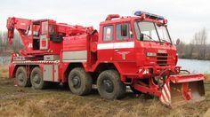 Tatra tow wrecker & snow plow rescue