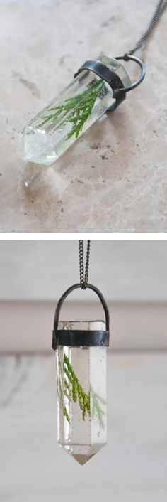 Evergreen crystal necklace